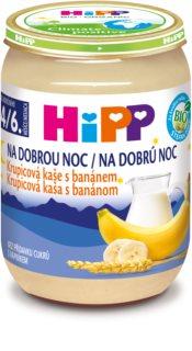 Hipp BIO krupicová kaše s banánem na dobrou noc