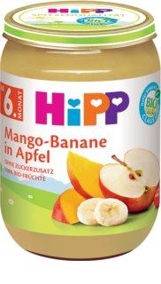 Hipp BIO jablka s mangem a banány ovocný příkrm