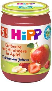 Hipp BIO jablka s jahodami a malinami ovocný příkrm