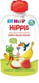 Hipp 100% ovoce jablko - banán - jahoda ovocný příkrm