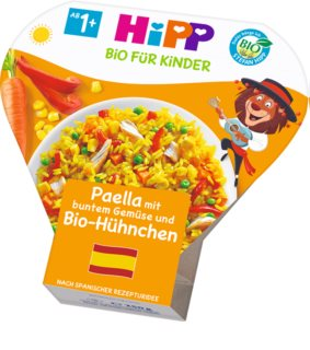 Hipp BIO Paella se zeleninou a kuřecím masem dětský příkrm
