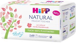 Hipp Babysanft Natural Märät Puhdistavat Pyyhkeet Vastasyntyneille Lapsille