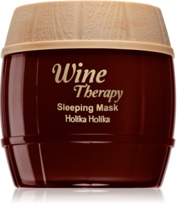 Holika Holika Wine Therapy Sovemaske med anti-rynkeeffekt