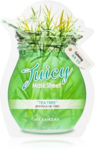 Holika Holika Juicy Mask Sheet Tea Tree Cellaag Masker  tegen Oneffenheden van Acne Huid