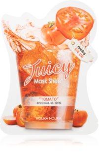 Holika Holika Juicy Mask Sheet Tomato υφασμάτινη μάσκα προσώπου για σύσφιξη των περιγραμμάτων
