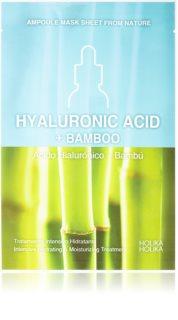 Holika Holika Ampoule Mask Sheet From Nature Hyaluronic Acid + Bamboo máscara em filme com efeito altamente hidratante e nutritivo