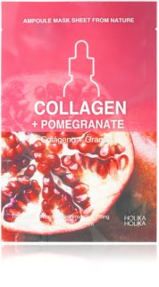 Holika Holika Ampoule Mask Sheet From Nature Collagen + Pomegranate платнена маска със стягащ ефект