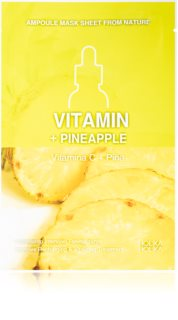Holika Holika Ampoule Mask Sheet From Nature Vitamin C + Pineapple plátenná maska s energizujúcim účinkom