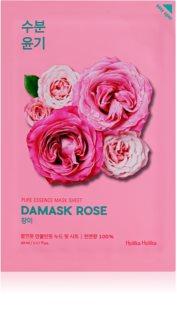 Holika Holika Pure Essence Damask Rose платнена маска с хидратиращ и ревитализиращ ефект