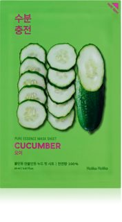 Holika Holika Pure Essence Cucumber Soothing Sheet Mask for Sensitive, Redness-Prone Skin