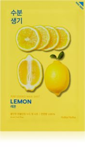 Holika Holika Pure Essence Lemon Softening and Refreshing Cloth Face Mask with Vitamine C