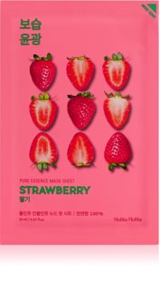 Holika Holika Pure Essence Strawberry Brightening Face Sheet Mask For Unified Skin Tone