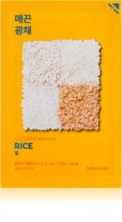 Holika Holika Pure Essence Rice платнена маска за озаряване и виталитет на кожата