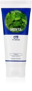 Holika Holika Daily Fresh Green Tea mousse detergente per riequilibrare la produzione di sebo con the verde