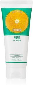 Holika Holika Daily Fresh Citron απολεπιστικός καθαριστικός αφρός για μικτή και λιπαρή επιδερμίδα
