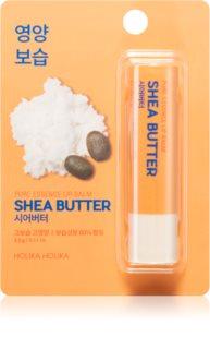 Holika Holika Pure Essence Shea Butter bálsamo hidratante para lábios em stick com manteiga de karité