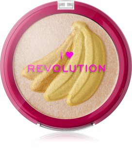 I Heart Revolution Fruity Highlighter Banana aufhellender Kompaktpuder