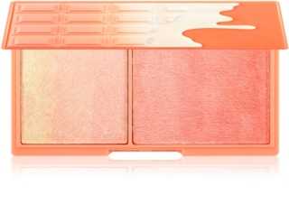 I Heart Revolution Mini Chocolate Peach And Glow palette illuminatrice