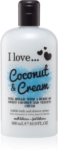 I love... Coconut & Cream Ulei gel de duș și baie