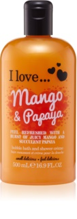 I love... Mango & Papaya krem pod prysznic i do kąpieli