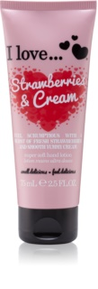 I love... Strawberries & Cream creme de mãos