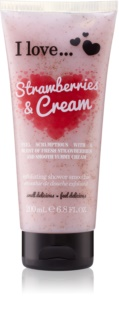 I love... Strawberries & Cream peeling de duche