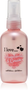 I love... Strawberries & Cream spray corporal refrescante