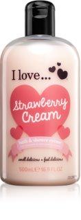 I love... Strawberry Cream tusoló és fürdő krém