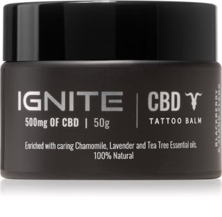 Ignite CBD Camomile, Lavender & Tea Tree 500mg Balm for Fresh Tattoo