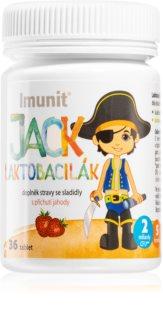 IMUNIT Lactobacily SWISS Imunit Jack Laktobacilák probiotika pro děti s jahodovou příchutí