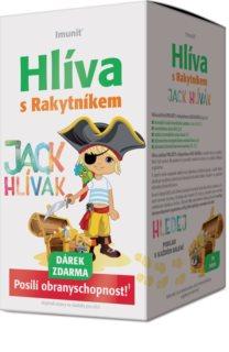 IMUNIT JACK HLÍVÁK cucací tablety s rakytníkem doplněk stravy pro podporu dětské imunity