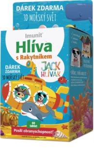 IMUNIT JACK HLÍVÁK cucací tablety s rakytníkem Mořský svět doplněk stravy pro podporu dětské imunity