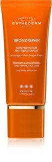 Institut Esthederm Bronz Repair crema facial reafirmante antiarrugas de protección UV alta
