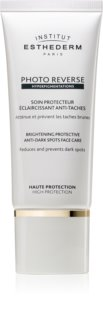 Institut Esthederm Photo Reverse Brightening Protective Anti-Dark Spots Face Care soin protecteur éclaircisant anti-taches pigmentaires haute protection solaire
