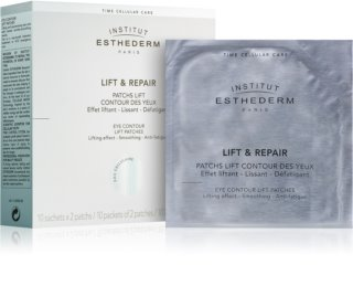 Institut Esthederm Lift & Repair straffende Maske für die Augen in Form eines Pflasters