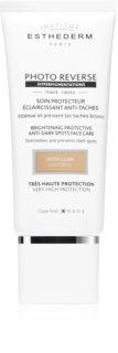 Institut Esthederm Photo Reverse Brightening Protective Anti-Dark Spots Face Care защитен тониращ крем против пигментни петна с висока UV защита