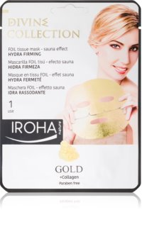 Iroha Divine Collection Gold & Collagen maschera idratante e nutriente effetto rassodante