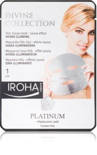 Iroha Divine Collection Platinum & Hyaluronic Acid masque hydratant illuminateur