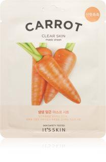 It´s Skin The Fresh Mask Carrot textile Maske mit Reinigungseffekt