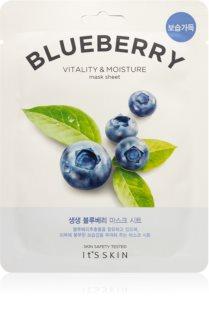 It´s Skin The Fresh Mask Blueberry Feuchtigkeitsspendende Tuchmaske mit revitalisierender Wirkung