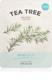 It´s Skin The Fresh Mask Tea Tree Revitalisierende Tuchmaske für problematische Haut, Akne
