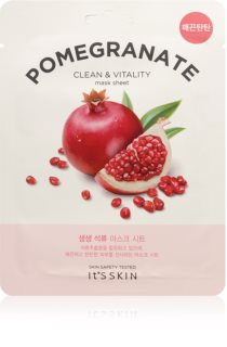 It´s Skin The Fresh Mask Pomegranate vitalisierende textile Maske zum Aufhellen der Haut