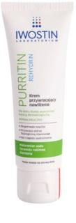 Iwostin Purritin Rehydrin хидратиращ крем  за кожа, която е суха и раздразнена от медикаментозно лечение на акне