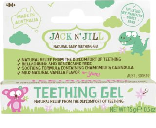 Jack N' Jill Teething Gel beruhigendes Gel Zahnungshilfe 4m+