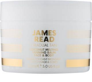 James Read Gradual Tan Coconut Melting Brun-utan-sol kropps- och ansiktslotion med kokosnötolja