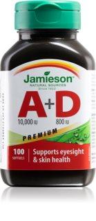 Jamieson Vitamíny A+D Premium doplněk stravy pro zdraví zraku a pokožky