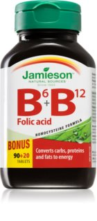 Jamieson B6 + B12 doplněk stravy s vitaminy skupiny B a kyselinou listovou