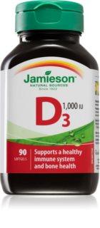 Jamieson Vitamín D3 1000 IU podpora správného vstřebávání vápníku a fosforu