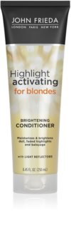 John Frieda Sheer Blonde Highlight Activating après-shampoing hydratant pour cheveux blonds