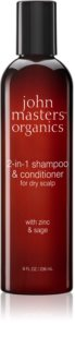 John Masters Organics Zinc & Sage shampoing et après-shampoing 2 en 1